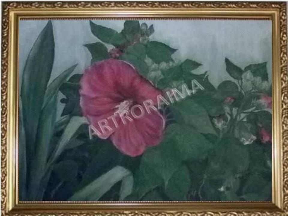 Red Hybrid Hibiscus - Acrylic